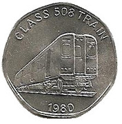 20 Pence - National Transport Token  (Class 508 Train 1980) – obverse