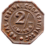 2 Shillings - Royal Arsenal Cooperative Soc Limited – obverse