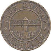 3 Pence - Iron Bridge - Aberdare – reverse
