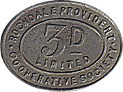 3 Pence - Rochdale Provident Cooperative Society – obverse