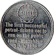 Token - Shell (Benz 3-Wheeler 1886) – reverse