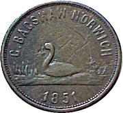 ¼ Penny (Norfolk - G Bagshaw) – obverse