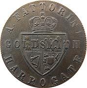 Token - A. Fattorini Goldsmiths (Harrogate) – reverse