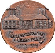 Dollar - Robert E. Lee Birthplace (Stratford, Virginia; Type I) – reverse