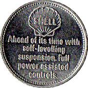 Token - Shell (Citroen DS 19 1956) – reverse
