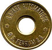 Car Wash Token - N.S. Ferrum S.A. (Aluminium-bronze) – obverse