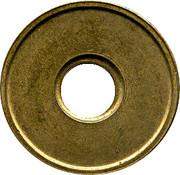 Car Wash Token - N.S. Ferrum S.A. (Aluminium-bronze) – reverse
