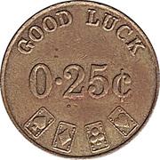 Casino Token - Good Luck (25 Cents) – reverse