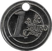 Shopping Cart Token - U (Les Nouveaux Commerçants; 1 Euro) – reverse