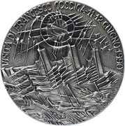 Medal - President Francesco Cossiga's visit to San Marino on 11-12 June 1990 – reverse
