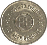 Vending Machine Token - Coca-Cola (RE - Recife, Pernambuco) – reverse