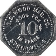 10 Cents - G.S. Wood – obverse