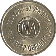 Vending Machine Token - Coca-Cola (NA - Natal, Rio Grande do Norte) – reverse
