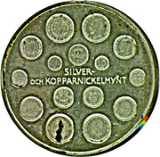 Token - Gustav V Mynttyper – reverse