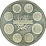 Token - Gustav V Mynttyper Jubileum – reverse