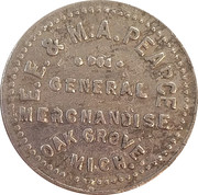 2 ½ Cents - E.E. & M.A. Pearce – obverse