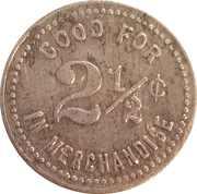 2 ½ Cents - E.E. & M.A. Pearce – reverse