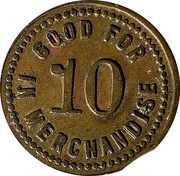 10 Cents - R.W. Atcher – reverse