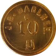10 Cents - J.B. Marlnee – obverse