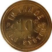 10 Cents - J.B. Marlnee – reverse