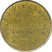 10 Centimes - Pharmacie Centrale Geneve – obverse