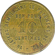 10 Centimes - Pharmacie Centrale Geneve – reverse