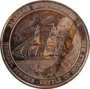 Token - Alabama Sesquicentennial (Battle of Mobile Bay; Silver) – obverse