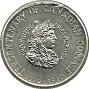 Token - Tercentenary Of Canadian Coinage (1670-1970) – obverse