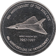 Token - 40th anniversary of the roll-out – obverse