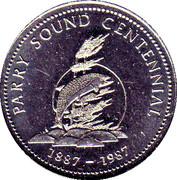Token - Parry Sound, Ontario (Centennial) – reverse