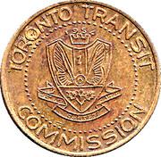 Metro Token - Toronto Transit Commission – obverse