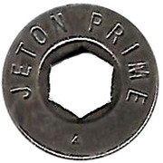 Jeton Prime (inscribed both sides; with 2 triangular mintmarks) – obverse