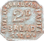 2 Pence Bread - Royal Arsenal Cooperative Socy Ltd – obverse