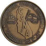 Token - California State Numismatic Association (62nd Convention) – obverse