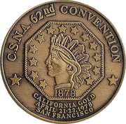 Token - California State Numismatic Association (62nd Convention) – reverse