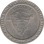 1000 Lira - Casino La Tropicana – obverse