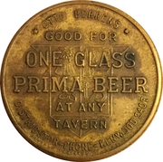 1 Glass Beer - Prima Brewing Company (Davenport, IA) – reverse