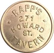 5 Cents - Rapp's Tavern (Buffalo, NY) – obverse