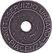 Bus Token - Piacenza – obverse
