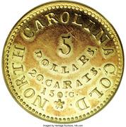5 Dollars - C. Bechtler (North Carolina Gold) – reverse