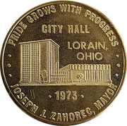 Token - City Hall Lorain Ohio – obverse