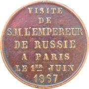 Token - Visit of Alexander II – reverse
