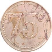 75 Centimes - Bijou Concert (Cherbourg) – reverse