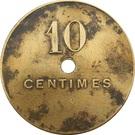 10 Centimes - Cie Minière de Djendli (Constantine) – reverse