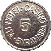 Token - Hotel Casino Ita Enramada (5) – reverse