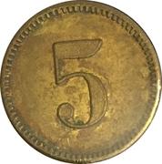 5 Centimes - A.G. Ad. Saurer (Arbon) – reverse