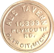 25 Cents - Al's Tavern (Detroit, MI) – obverse