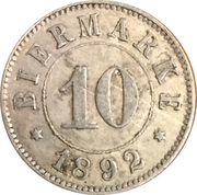 10 Centimes - Arbeiterbund (Basel) – reverse