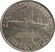 1 Dollar Gaming Token - Carnival Cruise Lines Inc. – obverse