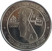 Token - California State Numismatic Association (45th Convention) – obverse